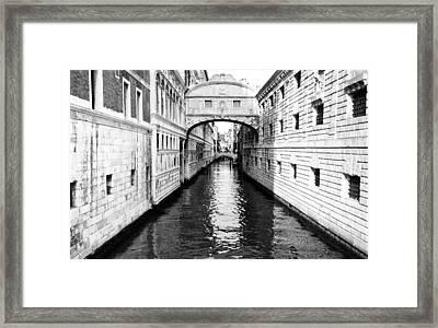 Bridge Of Sighs Bw Framed Print
