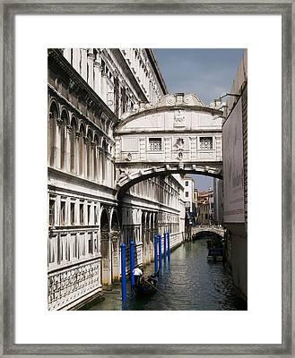 Bridge Of Sighs Framed Print by Ellen Henneke