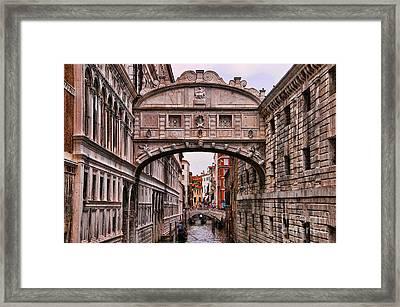 Bridge Of Sighs In Venice Framed Print