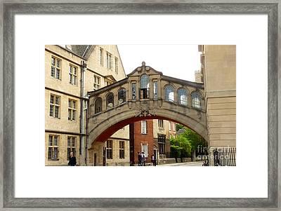 Bridge Of Sighs Framed Print by Julie Koretz