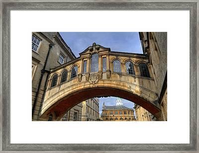 Bridge Of Sighs Framed Print