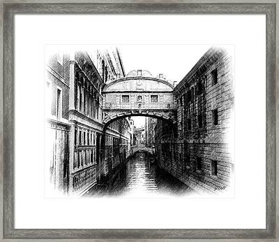 Bridge Of Sighs Pencil Framed Print