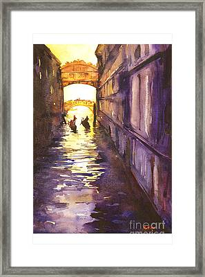 Bridge Of Sighs Framed Print by Ryan Fox