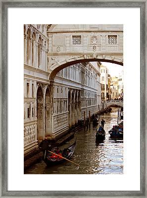 Bridge Of Sighs Venice Framed Print by Cedric Darrigrand