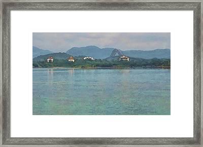 Bridge Of The Americas From Casco Viejo - Panama Framed Print by Julia Springer