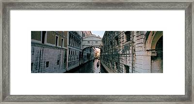 Bridge On A Canal, Bridge Of Sighs Framed Print by Panoramic Images
