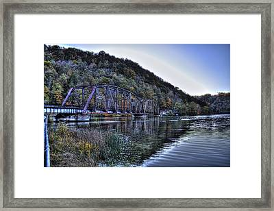 Bridge On A Lake Framed Print