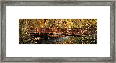 Bridge On Big Chico Creek Framed Print by James Eddy