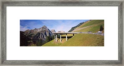Bridge On Mountains, Mountain Pass Framed Print by Panoramic Images