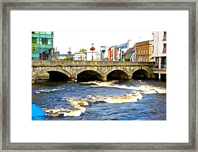 Framed Print featuring the photograph Bridge On The Garavogue by Charlie and Norma Brock
