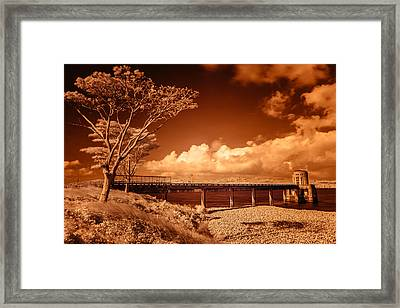 Bridge On The Lake Framed Print