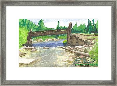 Bridge On The Red Cloud Loop Framed Print