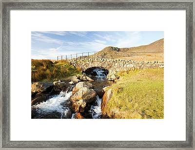 Bridge On The Walna Scar Track Framed Print by Ashley Cooper
