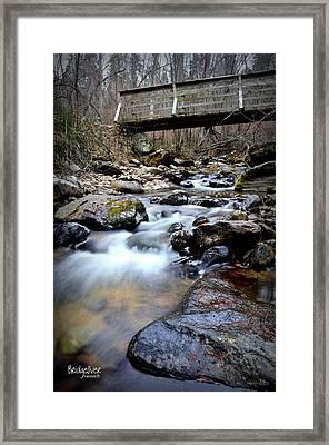 Bridge Over 3/22/2014  Framed Print by Guy Hoffman