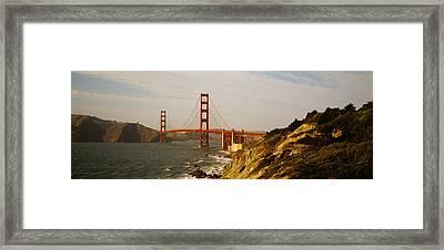 Bridge Over A Bay, Golden Gate Bridge Framed Print