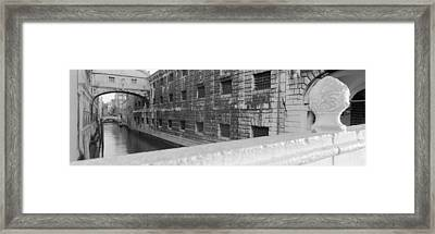 Bridge Over A Canal, Bridge Of Sighs Framed Print by Panoramic Images