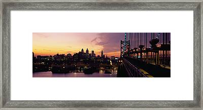 Bridge Over A River, Benjamin Franklin Framed Print by Panoramic Images