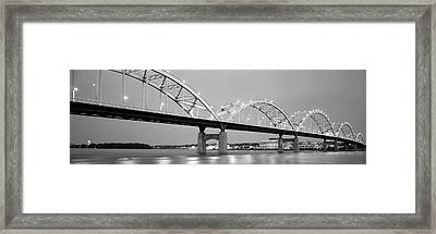 Bridge Over A River, Centennial Bridge Framed Print by Panoramic Images