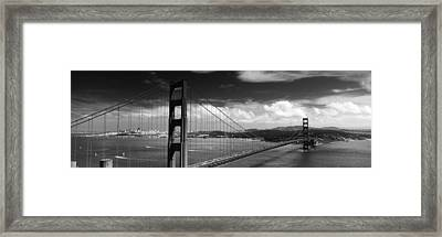 Bridge Over A River, Golden Gate Framed Print by Panoramic Images
