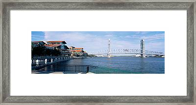 Bridge Over A River, Main Street, St Framed Print by Panoramic Images