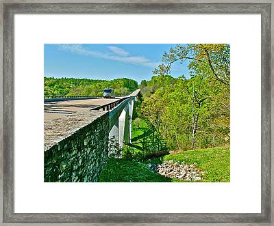 Bridge Over Birdsong Hollow At Mile 438 Of Natchez Trace Parkway-tennessee Framed Print by Ruth Hager