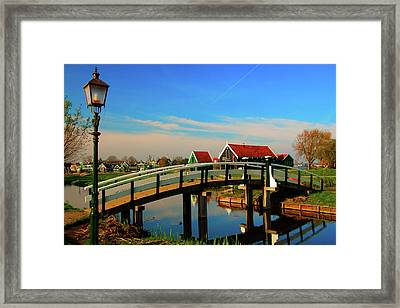Framed Print featuring the photograph Bridge Over Calm Waters by Jonah  Anderson