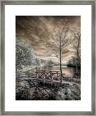 Bridge Over Calm Waters Framed Print