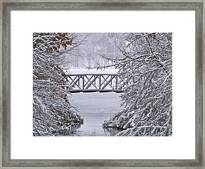 Bridge Over Clear Water Framed Print