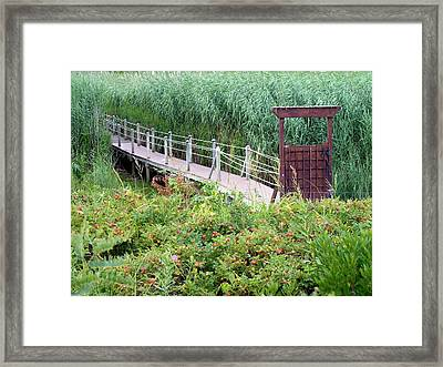 Bridge Over Eel River Framed Print by Janice Drew
