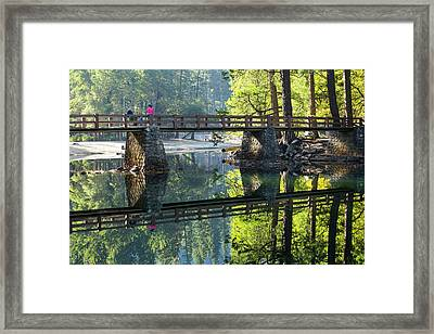 Bridge Over Merced River Framed Print