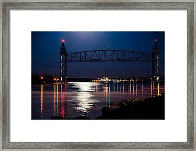 Bridge Over Moonlit Water Framed Print