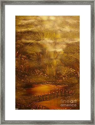 Bridge Over Muddy Waters- Original Sold - Buy Giclee Print Nr 35 Of Limited Edition Of 40 Prints   Framed Print