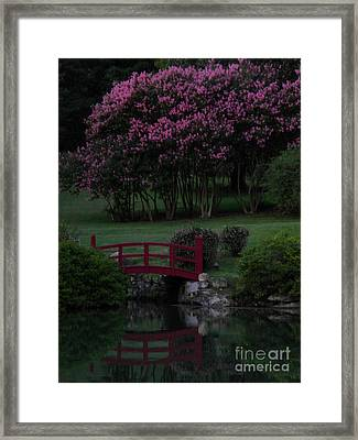 Bridge Over Peaceful Waters Framed Print by Amy Stuart Langlo