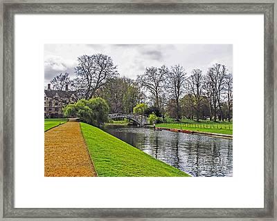 Bridge Over River Cam Framed Print