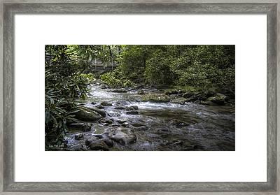 Bridge Over Running Water Framed Print