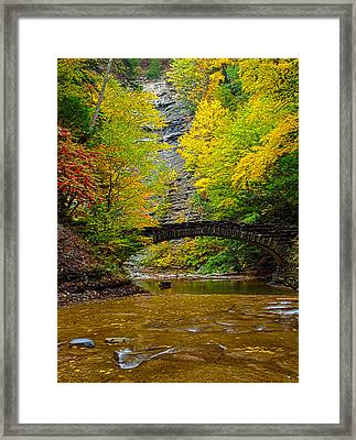 Bridge Over Still Waters Framed Print by Joshua House