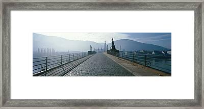 Bridge Over The Neckar River Framed Print