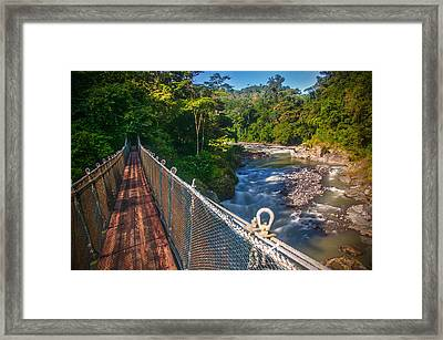 Bridge Over The Pacuare Framed Print