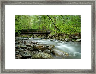 Bridge Over The Pigeon River Framed Print by Glenn Morimoto