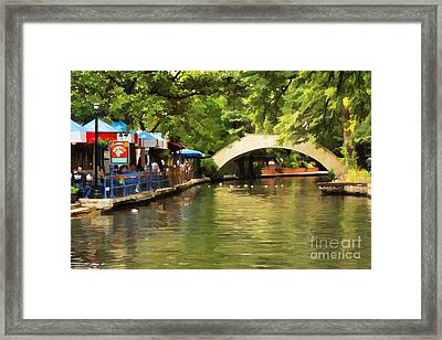 Bridge Over The Riverwalk Framed Print