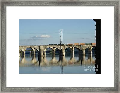 Bridge Over The Susquehanna River...   # Framed Print