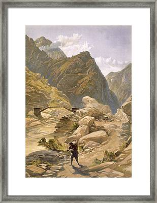Bridge Over The Sutlej At Wangtoo Framed Print