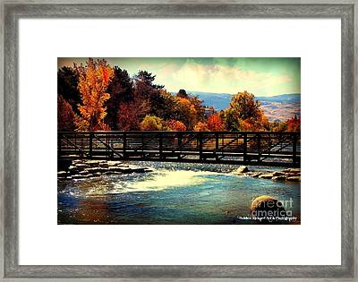 Bridge Over The Truckee River Framed Print
