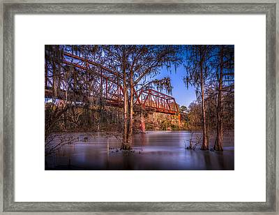 Bridge Over Trouble Water Framed Print by Marvin Spates
