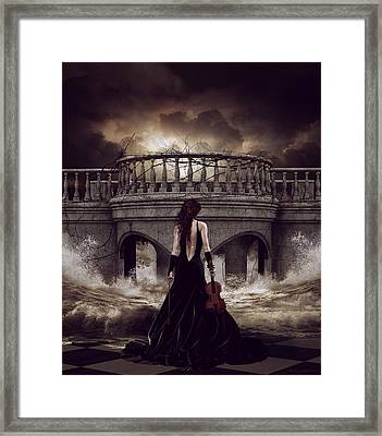 Bridge Over Troubled Waters Framed Print by Shanina Conway