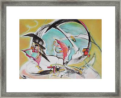 Bridge Over Water Framed Print by Asha Carolyn Young