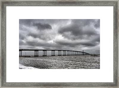 Bridge Over Water Framed Print