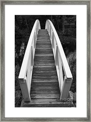 Bridge Perspective - Somesville Framed Print by Christiane Schulze Art And Photography