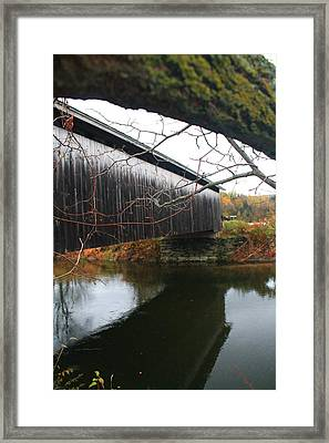 Framed Print featuring the photograph Bridge Reflection by Alicia Knust