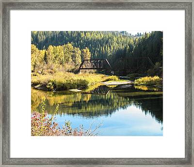 Bridge Reflections Framed Print by Curtis Stein